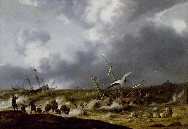 Willem_van_Diest_-_Shipwreck_in_a_Storm